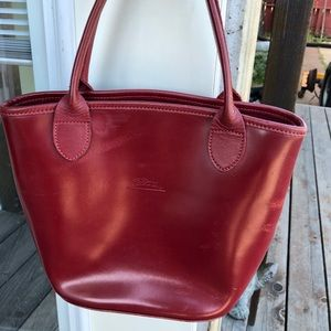 Vintage Longchamp Red Smooth Leather Le Pliage?